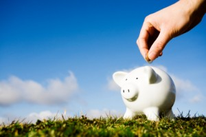 Piggy Bank on ground